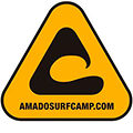 logo of our algarve surfcamp, Amado
