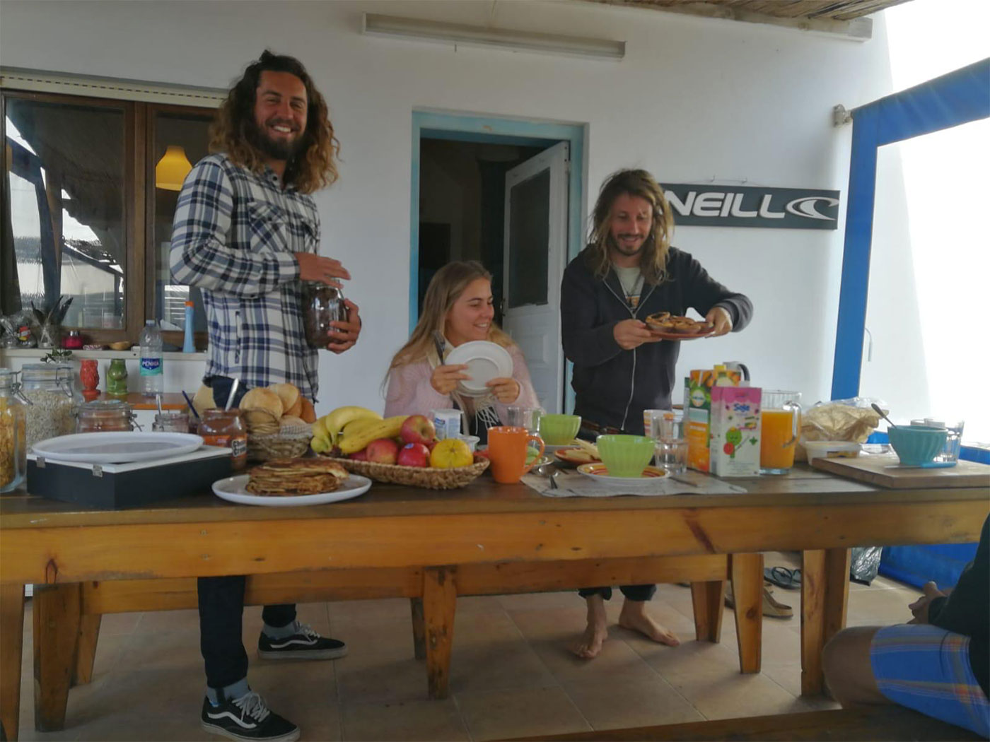 Breakfast at the amado surf camp